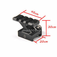 Hunting Gun Rifle Riser Mount for Reflex Sight 30mm High 3 Slots