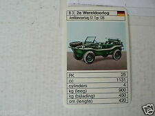 33-OFF ROAD CARS  B3 WW2 AMFIBIE VOERTUIG S1 TYP 128 KWARTET KAART, QUARTETT