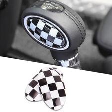 Checkered Flag Style Shift Knob Trim Cover Sticker For 14-up MINI Cooper F56 F55