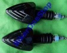 INDLED48 - Shark Fin Arrow Spear Head LED INDICATORS Pair BLACK STEM Clear Lens