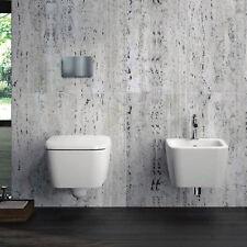 Sanitari sospesi Pozzi Ginori Metrica wc con sedile soft-close e bidet ceramica