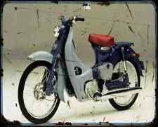 Honda C50 Cub 07 01 A4 Metal Sign Motorbike Vintage Aged