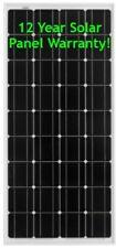 150W Solar Panel Monocrystalline 12 Year Warranty Caravans Camper Vans Boats NEW