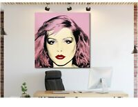 Andy Warhol- Debbie Harry - Pop Art - Blondie - Framed Canvas - Various Sizes