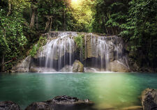 WATERFALL FOREST GREEN RIVER Photo Wallpaper Wall Mural NATURE 360x254cm HUGE!