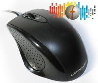 PC-Maus LC-Power m710B schwarz ERGO USB, optische für Computer und Laptop/Mouse