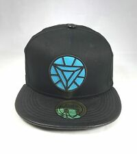 BLUE DIAMOND WITH BLACK LEATHER PEAK SNAPBACK FLAT PEAK  BASEBALL CAP
