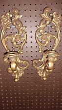 Vintage Homco 4118 candle holder goldtone