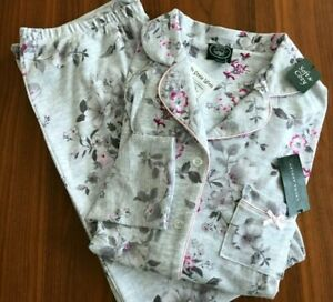 2-Pc Laura Ashley ITALY Theme Leaning Tower Pisa S//S Jersey Pajamas Wm/'s NWT $58