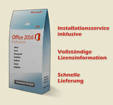 Microsoft Office 2016 Professional - Download - Inkl. Installationsservice