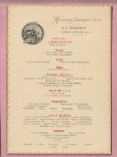 Holland America shipping line Luncheon menu, S.S. Rotterdam. 1923.