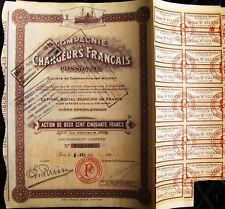 Vintage Bond Compagnie des Chargeurs Francais- Charges French Plywood dated 1924
