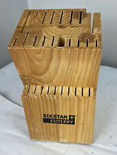 Six Star Cutlery By Ronco 30 Slot Wooden Knife Block