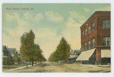 Main Street View ATHENS PA Vintage Bradford County Pennsylvania Postcard