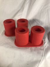 4 JACK DANIELS TENNESSEE FIRE ICE CUBE SHOT GLASS MOLDS Silicone