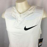 Nike Mens Vapor Speed Football Shirt Sleeveless Padded Dri-Fit White XXL NWT