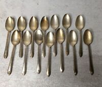 "Wm Rogers & Son 12 Piece Teaspoon Set ""Exquisite"" IS 1940's Spoon Flatware"