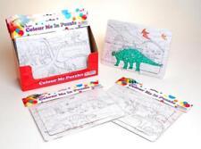 colour your own dinosaur Jigsaw Puzzle Paint/Colour 24 Pieces creative learning