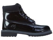"Timberland 6"" Premium Big Kids TB03794A-Blk Black Shine Boots Youth Size 6"