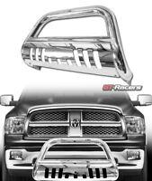 For 2009-2018 Dodge Ram 1500 Chrome Bull Bar Brush Push Bumper Grille Guard