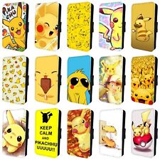 POKEMON PIKACHU AMAZING COLOURFUL FLIP PHONE CASE COVER for iPHONE 4 5 6 7 8 x