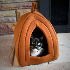 Cat Igloo Bed Tent Warm Cozy Comfy Lounger Small Enclosed Space Portable