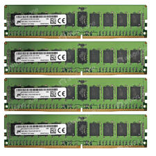 Micron 32GB 4X8GB 1Rx4 PC4-2133MHz DDR4-17000R 288PIN 1.2V ECC REG Server Memory