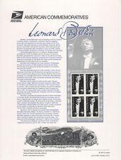 SSS: USPS 2001 Commemorative Panel #631  34c Leonard Bernstein     Sc #3521