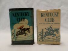 Vintage Kentucky Club Pipe & Cigarette TobaccoPocket Tin with Tobacco Package