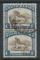 South Africa - 1932, 1s Vertical Pair - Used - SG 48