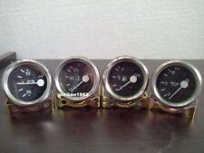 "2"" /52mm Electrical Temp (""C) Oil Pressure Bar Fuel Amp Gauge- Black Chrome"