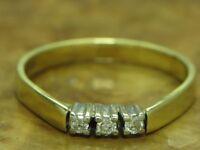 14kt 585 GOLD GELBGOLD RING MIT 0,09ct. BRILLANT BESATZ BRILLANTRING DIAMANTRING