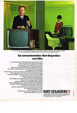 PUBLICITE ADVERTISING  1969   RIBET DESJARDINS  téléviseur