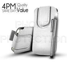 Button PU Leder Pull Tab Etui Schutzhülle & Stylus Für Verschiedene Motorola Handys