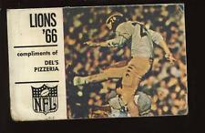 1966 NFL Detroit Lions Football Pocket Schedule VG