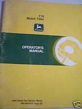 Original John Deere Operators Manual-710 Mulch Tiller