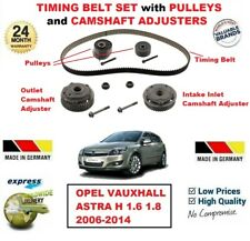 FOR OPEL VAUXHALL ASTRA H 1.6 1.8 2006-2014 TIMING BELT SET + CAMSHAFT ADJUSTERS