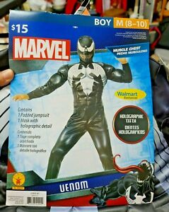 New rubies Marvel Venom Muscle Chest Halloween Costume Size M 8/10