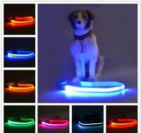 USB RECHARGEABLE LED 3ft LEASH Pet Dog Nylon Clip-on lead Flashing Light Safety