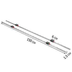 2 X Carril Guía Lineal CNC 15-1500 mm 4 X Bloque de Cojinete Tipo Cuadrado