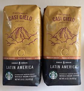 Starbucks CASI CIELO 2 lbs Whole Bean Coffee Med Roast BB 3/20 Guatemala Antigua