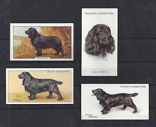 1929 - 1938 UK Dog Art Cigarette Card Collection x 4 Black FIELD SPANIEL