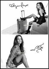 Megan Fox, Autographed, Pure Cotton Canvas Image. Limited Edition (MF-109)
