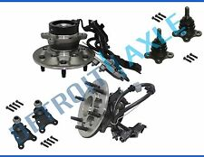 Front Wheel Bearing Upper Lower Ball Joint 6pc Kit w/ABS for Colorado Canyon 2WD