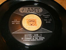 TY STEWART & THE JOKERS - HERE AM I - YOUNG GIRL  / LISTEN - DOO WOP POPCORN