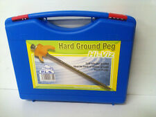 Drill into Hard Ground Hi-Viz Peg in Plastic Carry Case Pack of 20 - 6009945