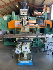 Acra Am 3s Vertical Mill Milling Machine 10 X 54 Bridgeport Type 3hp Dro Drawbar
