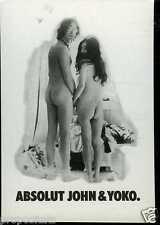 Cartolina Promocard Absolut Vodka John & Joko #175 Lennon