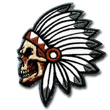 Skull Indian Chief Head Patch Iron Harley Biker Motorcycle Chicago Vest Tattoo