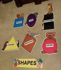 Laminated Preschool/Kindergarten Teacher Shapes Bulletin Board Display